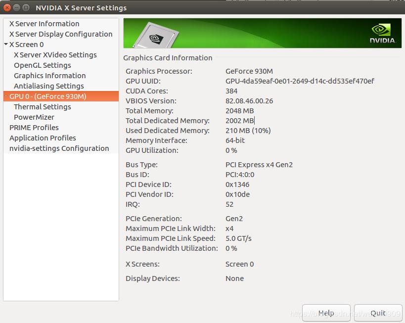 Ubuntu安装NVIDIA GEFORCE 930M显卡驱动+CUDA+CuDnn+Tensorf